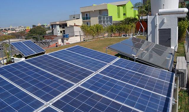 Sistema de Captação solar em Laje Verde