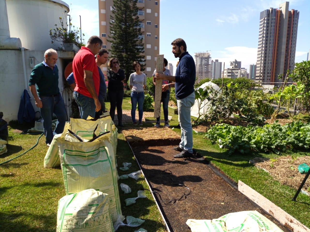 Palestra com Agricultura Urbana em Laje Verde